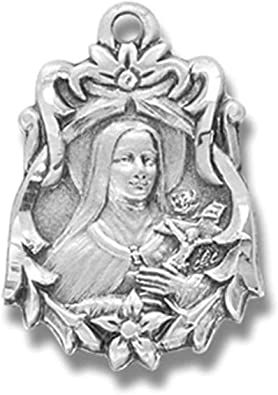 Saint Therese of Lisieux The Little Flower St Michael the Archangel  Medal Catholic Religious Pendant