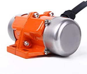 BIZOEPRO Concrete Vibrator Vibration Motor 90W Mini Vibrating Motor Single Phase Aluminum Alloy AC 110V 3600rpm Vibrating Vibrators for Shaker Table