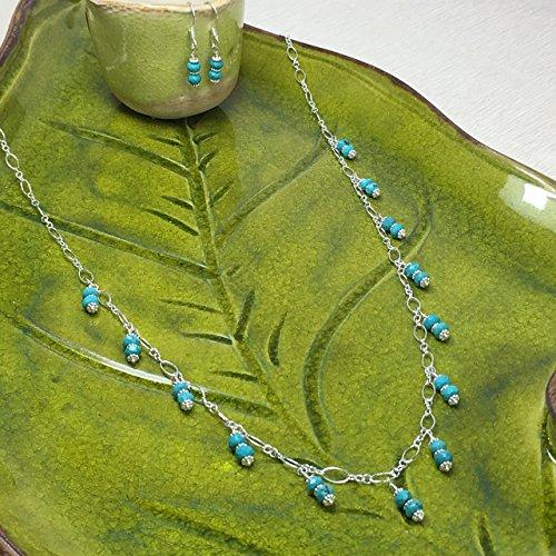 JANECKA Genuine Turquoise Gemstone / Dainty Sterling Silver 24