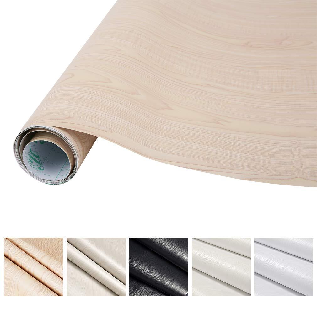 KINLO Pegatina Mueble de Madera Ropa 0.61 x 5M Vinilo autoadhesivo Papel Pintado Impermeable para Gabinetes/Muebles/Pared/Vidrio/Electrodomesticos: ...