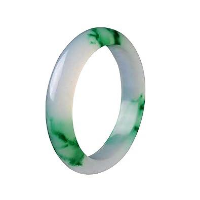 yigedan AAA Handmade Genuine Certified Natural Beautiful Green Jadeite Jade Bangle j1k1LV4