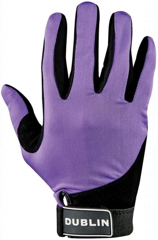 Dublin Track Womens Gloves Everyday Riding Glove Purple All Sizes