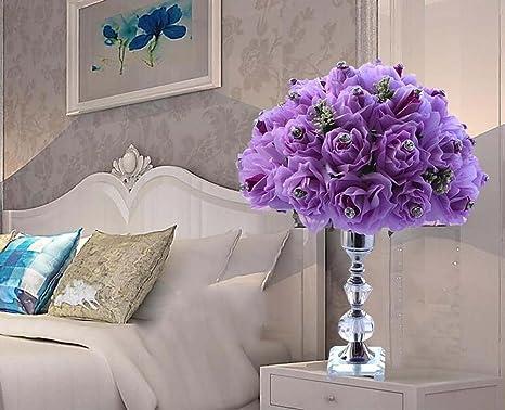 Lampada Scrivania Viola : Gjx romantico caldo rosa lampada da tavolo in cristallo lampada da
