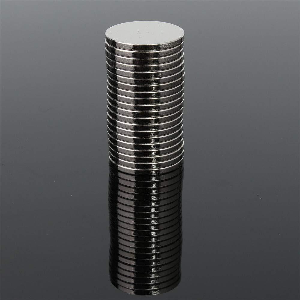 20 imanes de neodimio de tierras raras N52 de 20 mm x 2 mm
