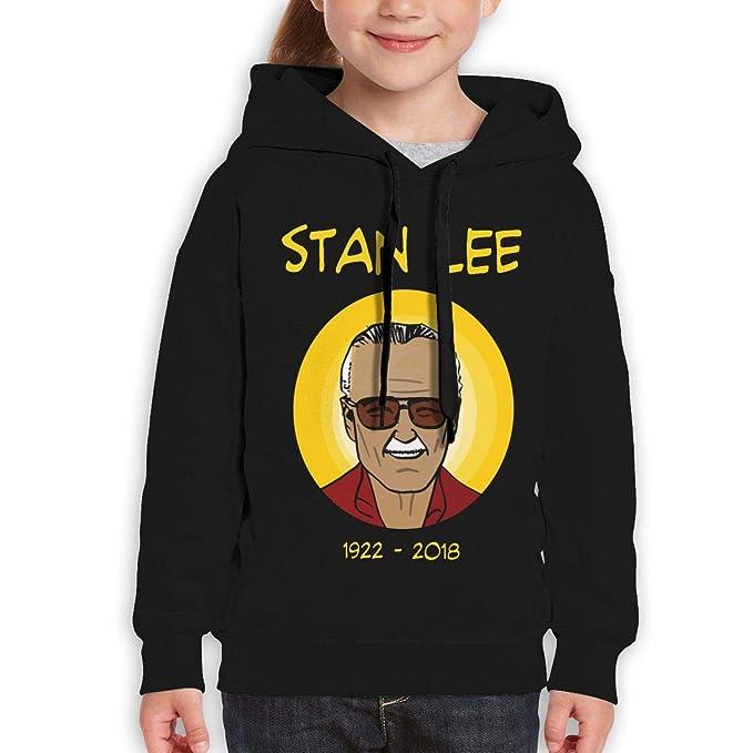 Boys Girls RIP Stan Lee Teen Youth Hoodie Black