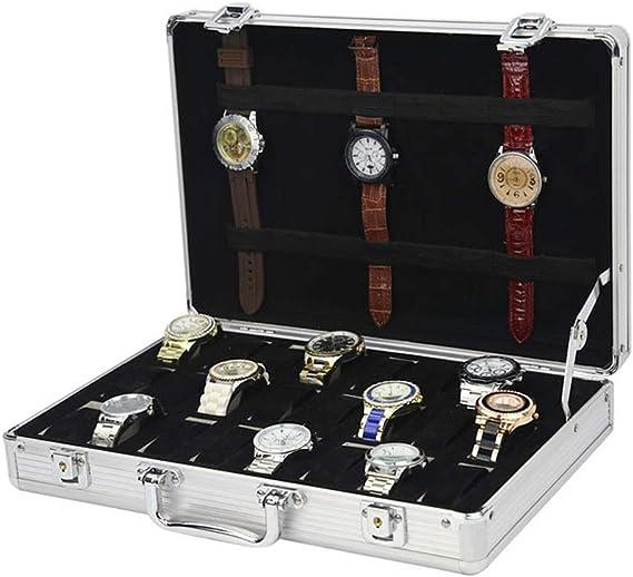 24 Compartimentos Caja De Relojes, Viajar Reloj Valija, Aleación ...
