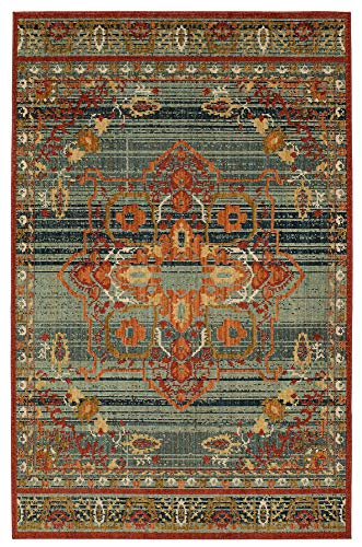 Karastan Vintage Tapis Left Bank Garnet Multi 7' 6'' X 10' 6'' Area Rug by Patina Vie ()