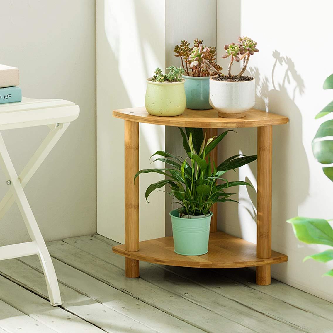 LRW Fan-Shaped Balcony Flower Rack Indoor Multi-Storey Living Room Flower Pot Rack, 40 Centimeters Tall