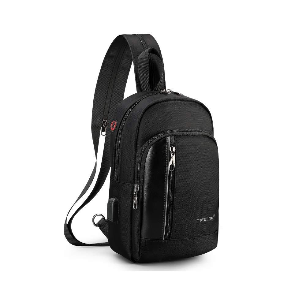 ビジネス ノートパソコン バックパック レディース メンズ USB充電ポート付き 防水 カレッジ スクールバッグ コンピューター バックパック One Size ブラック DS-B3668  ブラック - B B07NZTYSTN