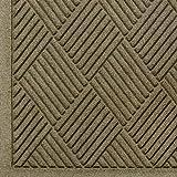 Andersen 221 WaterHog Fashion Diamond Polypropylene Fiber Entrance Indoor/Outdoor Floor Mat, SBR Rubber Backing, 6' Length x 3' Width, 3/8'' Thick, Camel