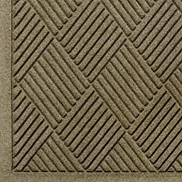 Andersen 221 WaterHog Fashion Diamond Polypropylene Fiber Entrance Indoor/Outdoor Floor Mat, SBR Rubber Backing, 3\' Length x 2\' Width, 3/8\