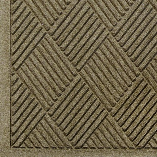 Thick Camel (Andersen 221 WaterHog Fashion Diamond Polypropylene Fiber Entrance Indoor/Outdoor Floor Mat, SBR Rubber Backing, 5' Length x 3' Width, 3/8