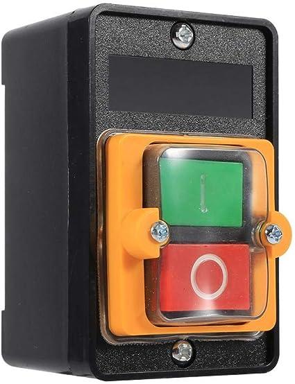 380V 10A Wasserdichter EIN//AUS-Drucktastenschalter ohne Geh/äuse f/ür mechanische Ausr/üstung AC220V Drucktastenschalter
