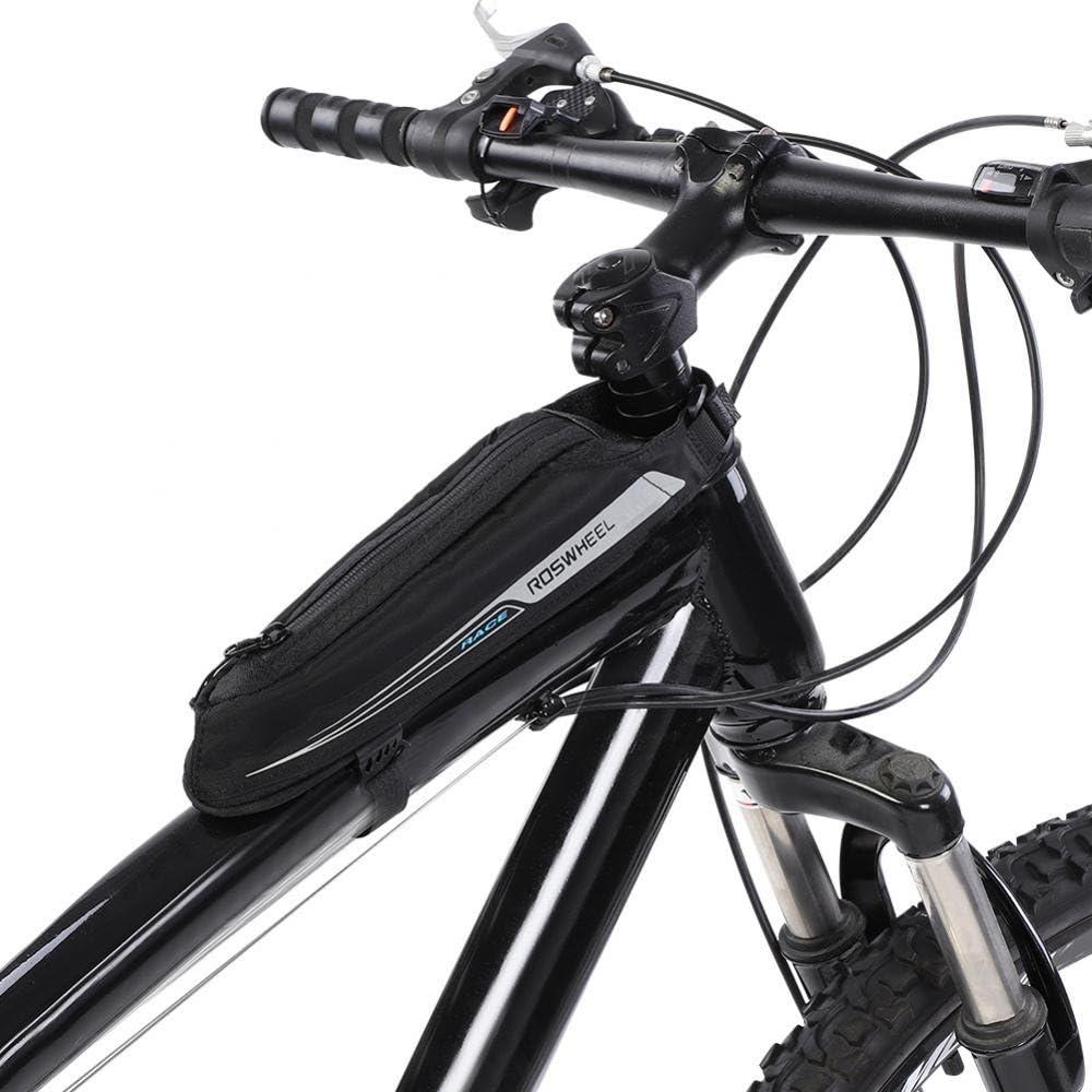 VGEBY Bike Top Tube Bag Low Profile Bike Stem Front Frame Storage Pouch Bag for Mountain Road Bike