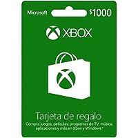 Tarjeta Xbox Live $1,000 MXN - Xbox One Standard Edition