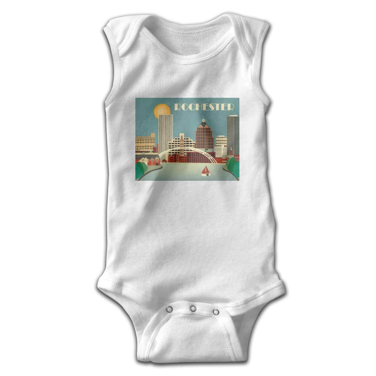 Infant Baby Boys Rompers Sleeveless Cotton Onesie,Rochester New York Outfit Spring Pajamas