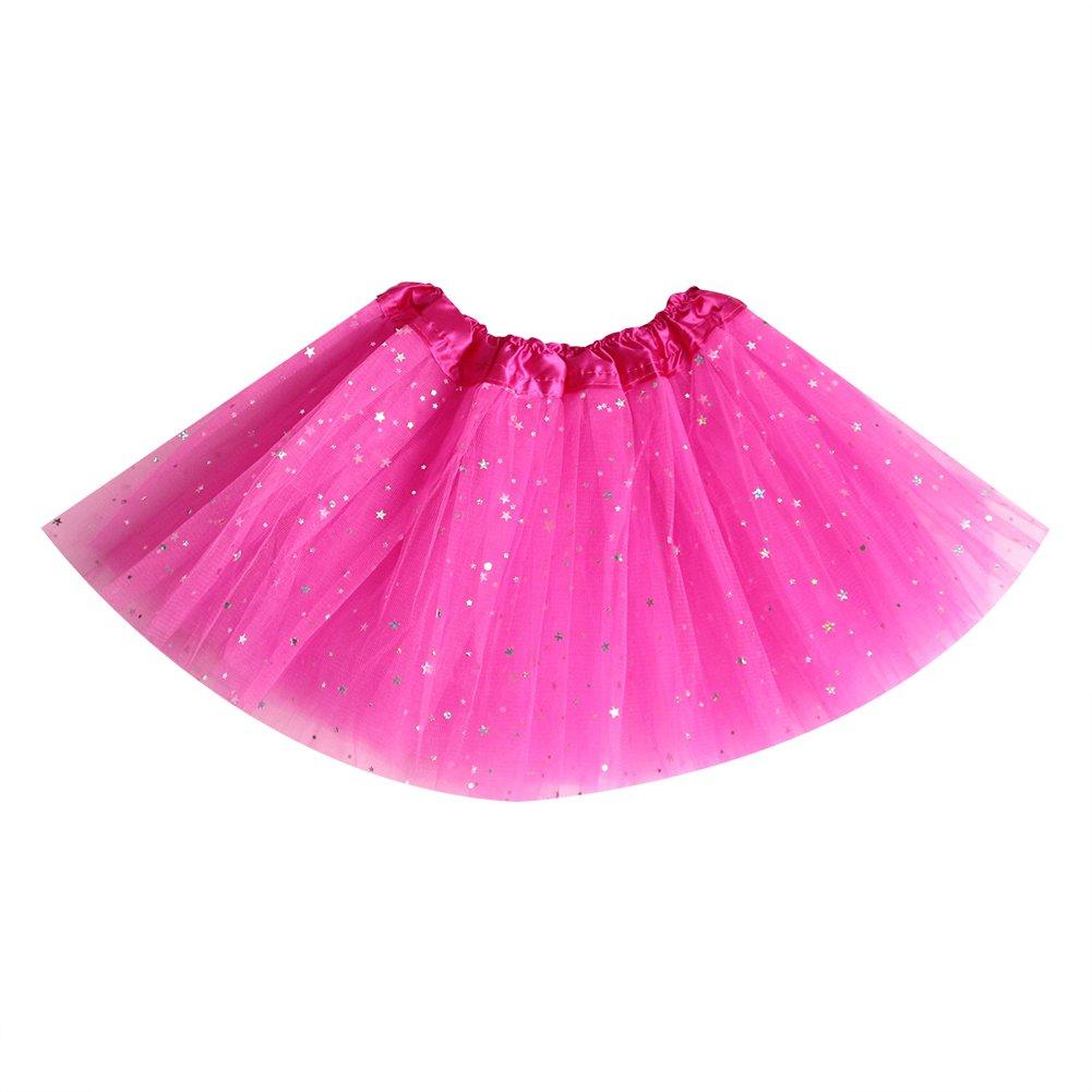 Losorn Kid Girls Dress Tutu Glitter Ballet Dress Triple Layer Soft Tulle