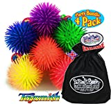 Toysmith Flashing Puffer Ball Yo-Yo's Gift Set Party Bundle with Exclusive Matty's Toy Stop Storage Bag - 4 Pack (Assorted)