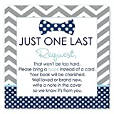 Bow Tie Baby Shower Book Insert Card Set of 25