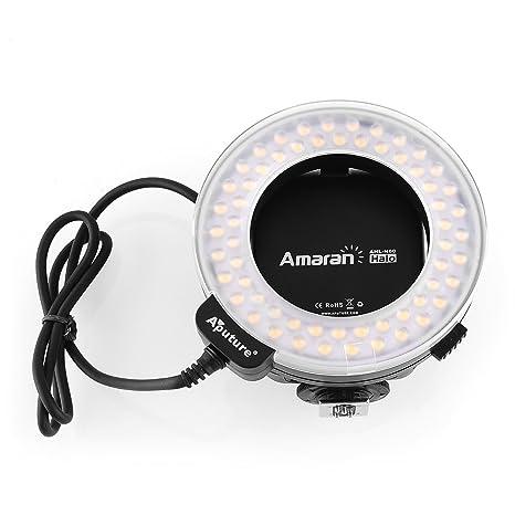 amzdeal® Flash Anular Macrofotografía, LED flash ring light, Flash Anular LED Macro para