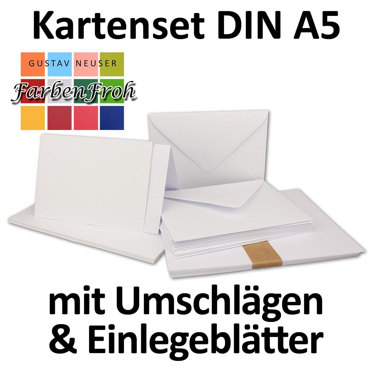 150 Sets - Faltkarten Hellgrau - DIN A5 A5 A5  Umschläge  Einlegeblätter DIN C5 - PREMIUM QUALITÄT - sehr formstabil - Qualitätsmarke  NEUSER FarbenFroh B07C36YWTT Kartenkartons Üppiges Design 9653d3