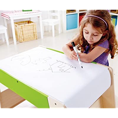 Award Winning Hape Early Explorer Play Station and Stool Set with Art Easels and Accessories: Toys & Games