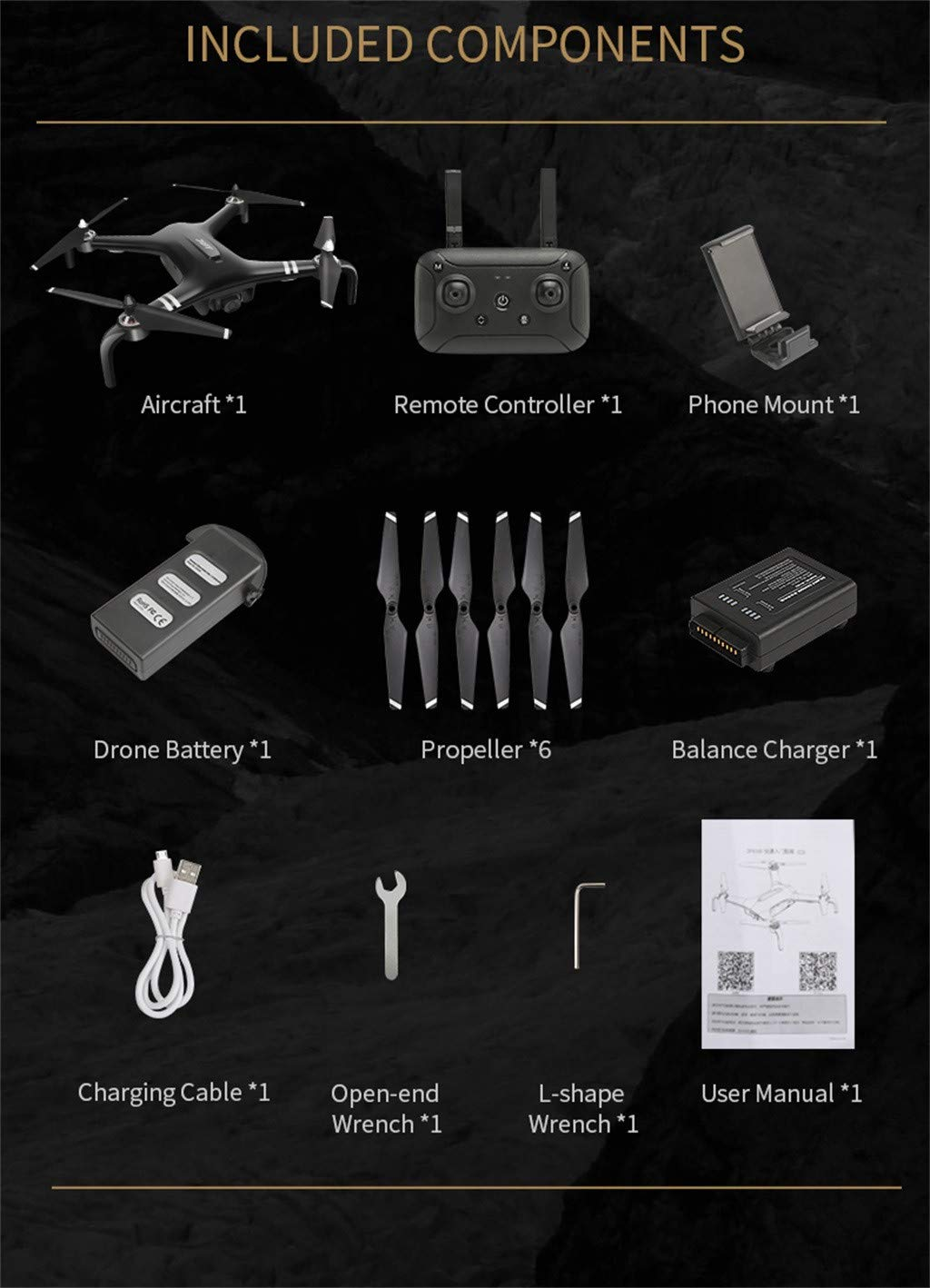 Cywulin RC Quadcopter Drone 1080P HD 5G WiFi FPV 120° Wide-Angle Camera Live Video, Brushless Motor, GPS Return Home, Follow Me, Long Control Range, Altitude Hold, Intelligent Modular Battery (Black) by Cywulin (Image #7)