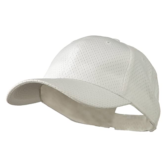 f4a5a3673d0 Amazon.com  Youth Athletic Jersey Mesh Cap - White OSFM  Baseball ...