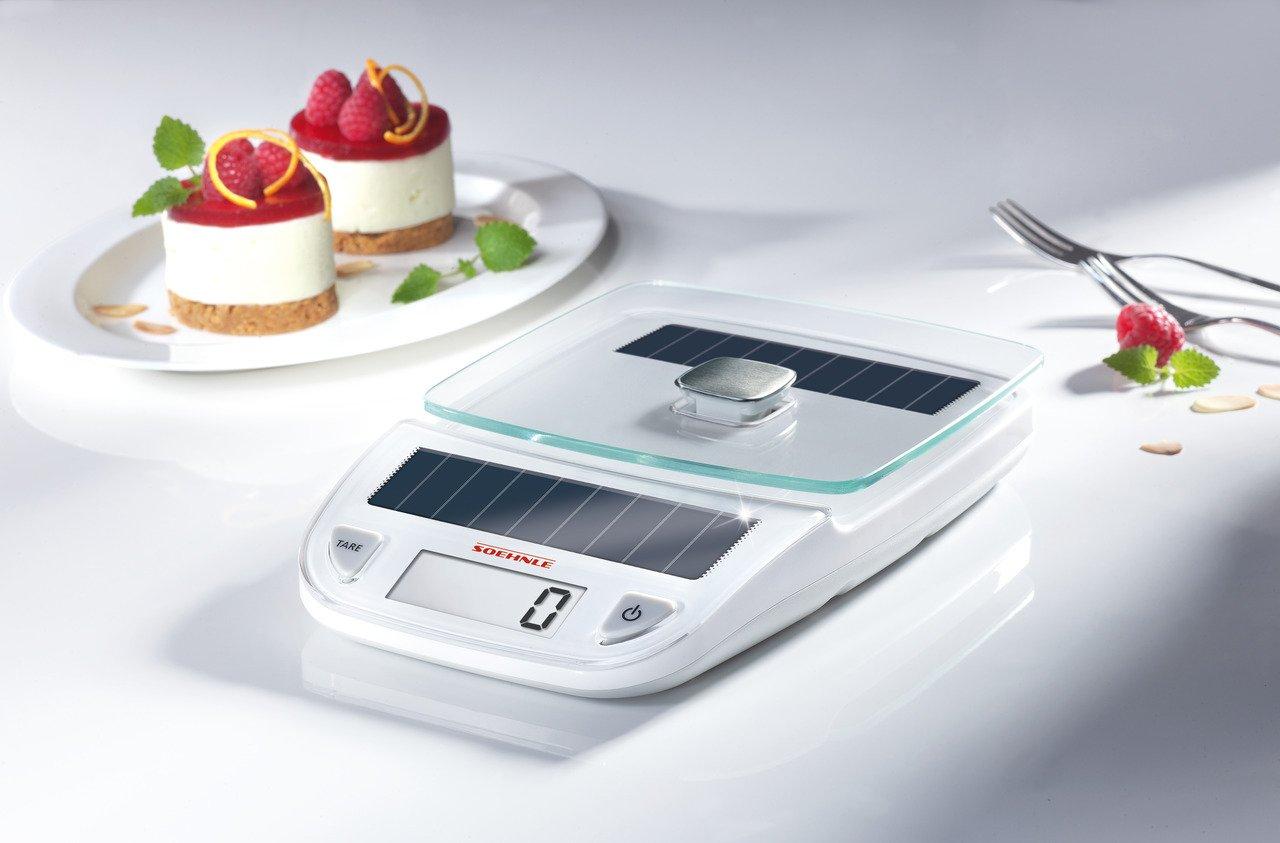 Leifheit 66188 Ksd Easy Solar - Báscula digital de cocina, color gris: Amazon.es: Hogar