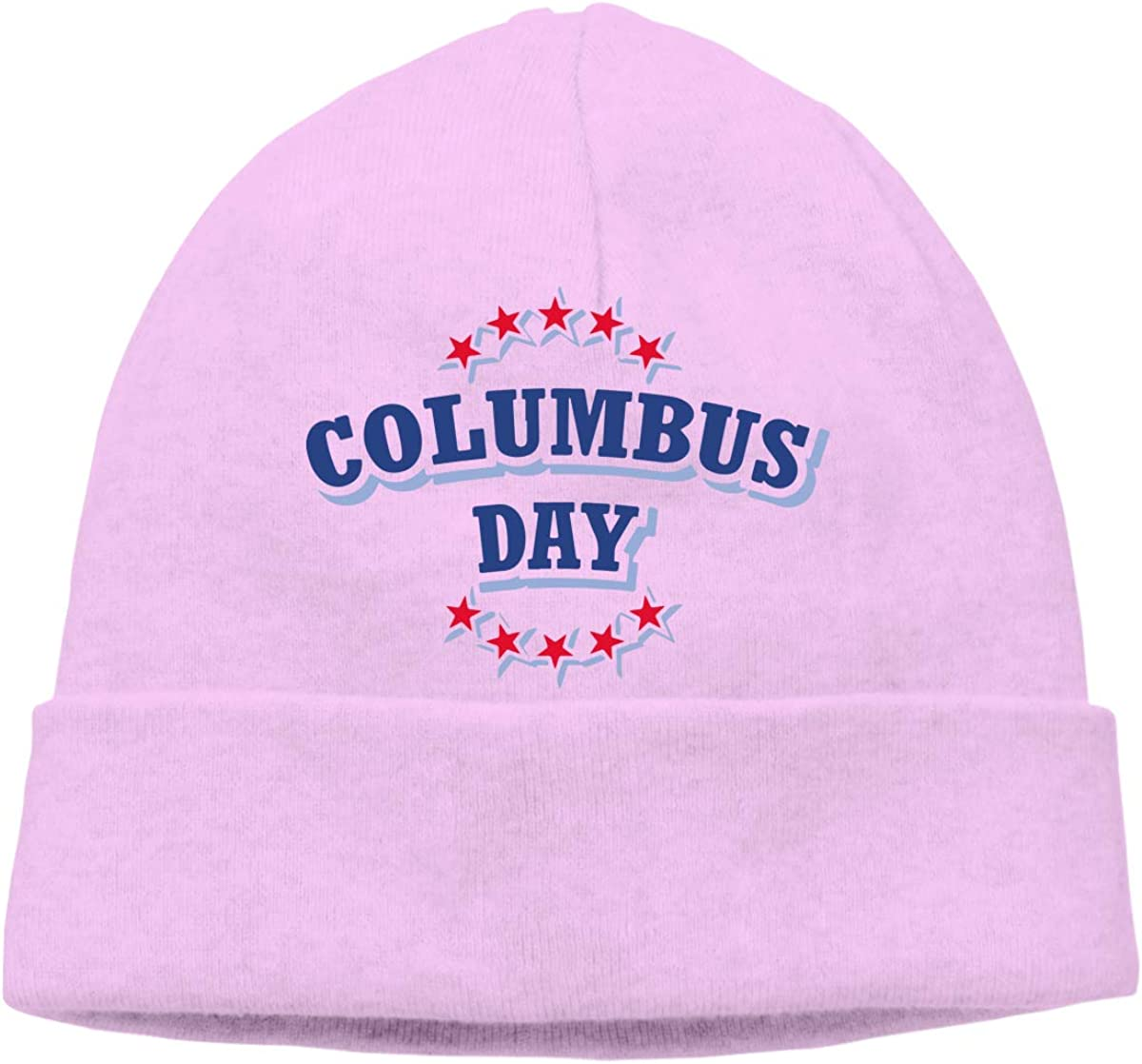 Q10 Mens/&Womens Columbus Day Happy Soft Knit Beanie Caps Soft Hat