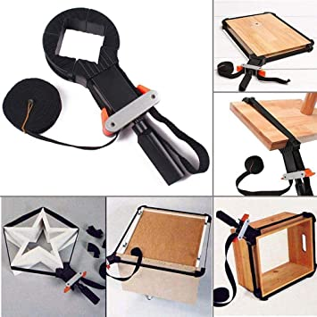 Woodworking Band Clamp Strap Right Angle Clip Adjustable Frame Clip /& Nylon Rope