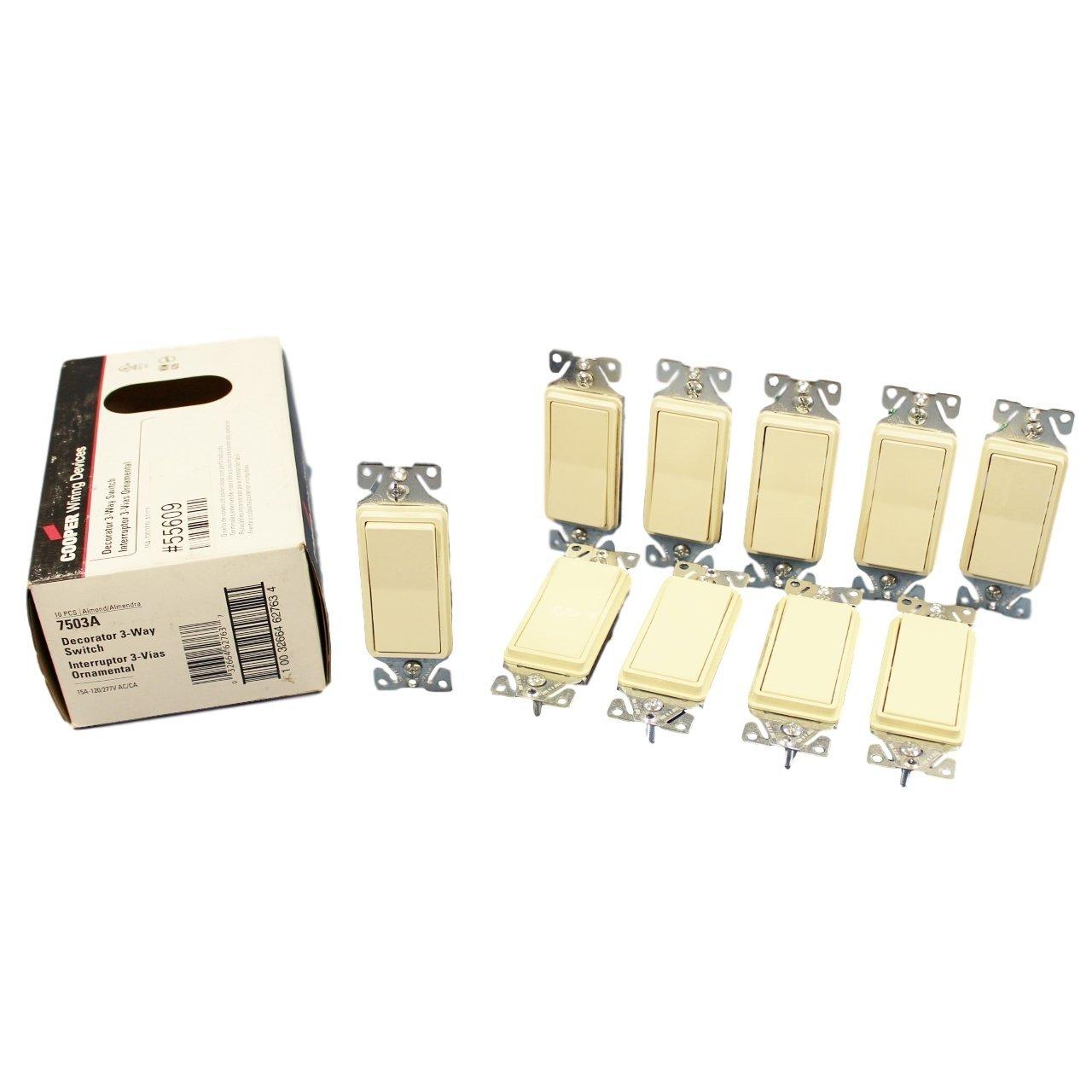 cooper wiring 7503a decorator rocker switch 3 way 15a 120 277vac