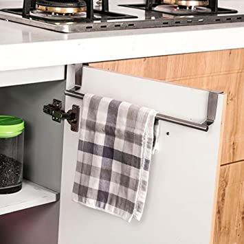 Toallero, kemilove para encima de la puerta Soporte de toalla accesorio de bar para colgar armario de baño estante accesorio de cocina: Amazon.es: Hogar