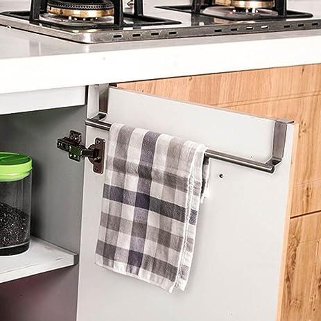 Towel Rack, Kemilove Over Door Towel Rack Bar Hanging Holder Bathroom  Kitchen Cabinet Shelf Rack