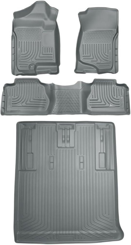 Maxliner 07-14 Chevrolet Suburban GMC Yukon XL Denali Floor Mat 3 Row Set Tan