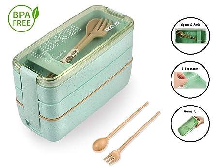 Tuppers Ecologicos con Compartimentos ♻ Bento Box con ...
