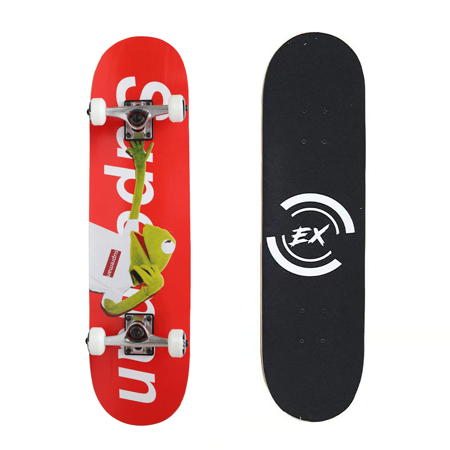 Pro Skateboard 31'' X 8'' Standard Skateboards Cruiser Complete Canadian Maple 11 Layers Double Kick Concave Skate Boards by DIYUSI