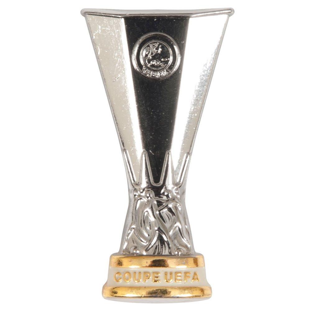 UEFA Europa League Unisex_Adult UEFA EL PIN Cup 2D, Silver, 3,2cm