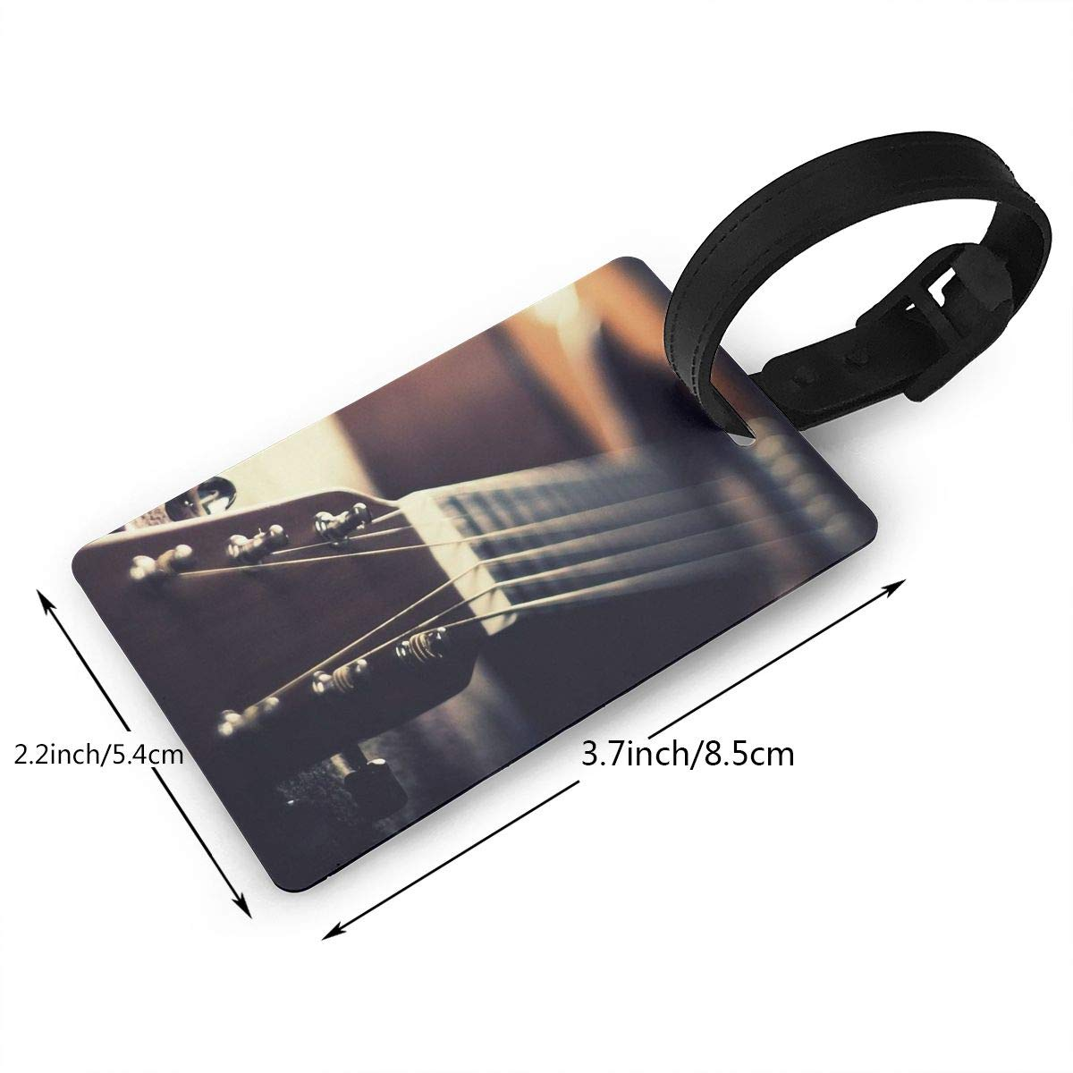 2 Pack Luggage Tags Guitars Baggage Tag For Travel Tags Accessories