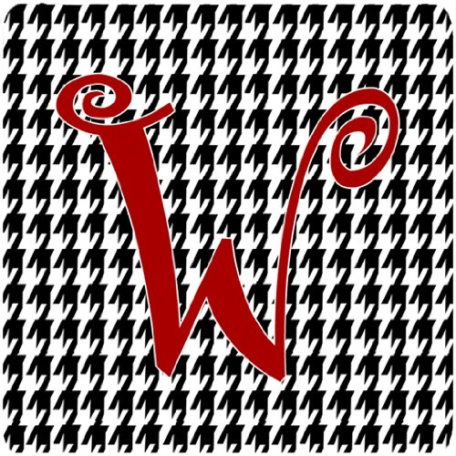 Carolines Treasures CJ1035-WFC Set of 4 Monogram - Houndstooth Black Foam Coasters Initial Letter W   B00VGZ8A7I