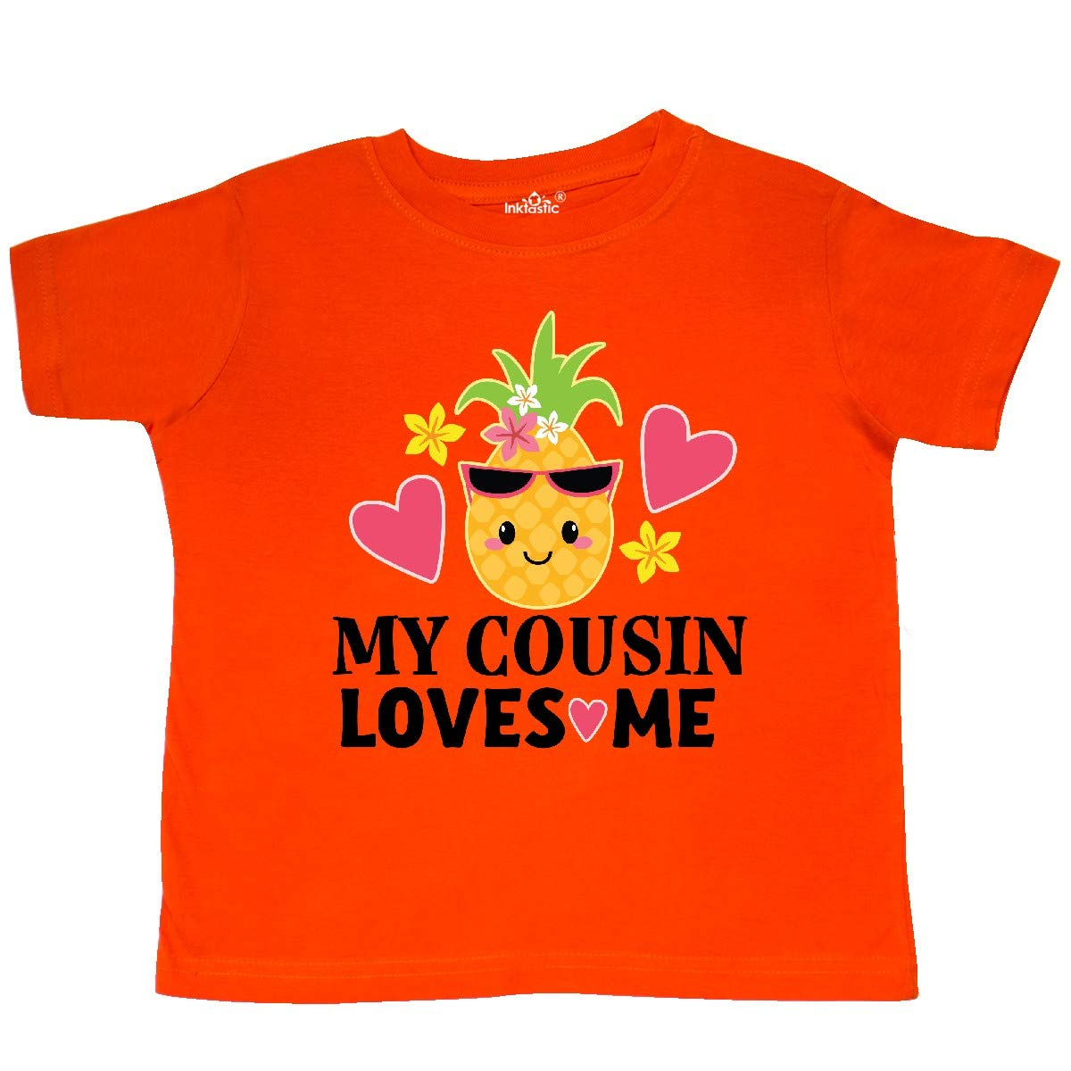 inktastic My Cousin Loves Me Pineapple Toddler T-Shirt