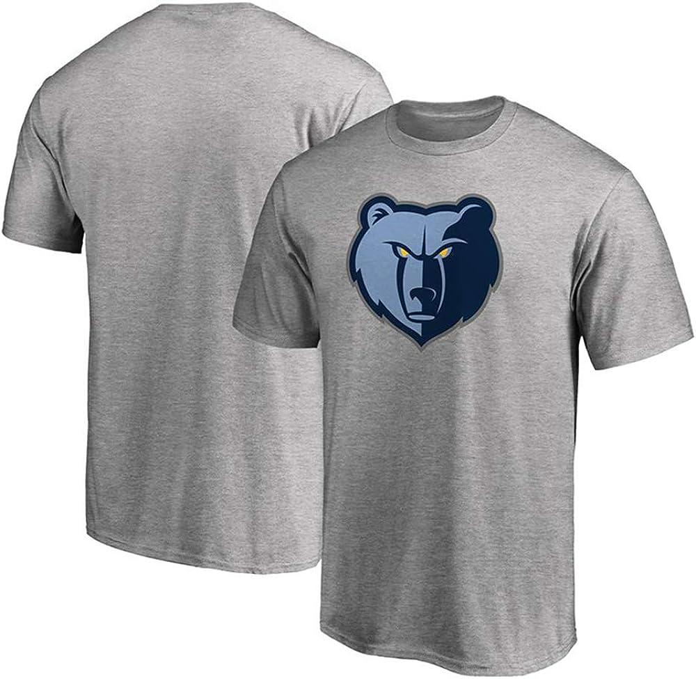 Camiseta NBA Grizzlies Baloncesto Masculino Cómodo De Manga Corta Gris Claro: Amazon.es: Ropa y accesorios