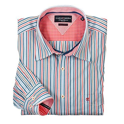 Rot gestreiftes Hemd (langarm) von Casamoda in Übergrößen bis 6XL