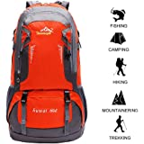 60 L Waterproof Lightweight Climbing Fishing Backpack Hiking Daypack,Internal Frame Backpack,Handy Foldable Camping Outdoor Backpack Bag60 L Waterproof Lightweight Climbing Fishing Backpack Hiking Daypack,Handy Foldable Camping Outdoor Backpack Bag(Orange)