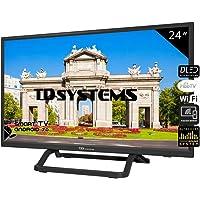 Televisores Smart TV LED 24 Pulgadas TD Systems K24DLX10HS. 2X HDMI, 2X USB, DVB-T2/C/S2, HbbTV