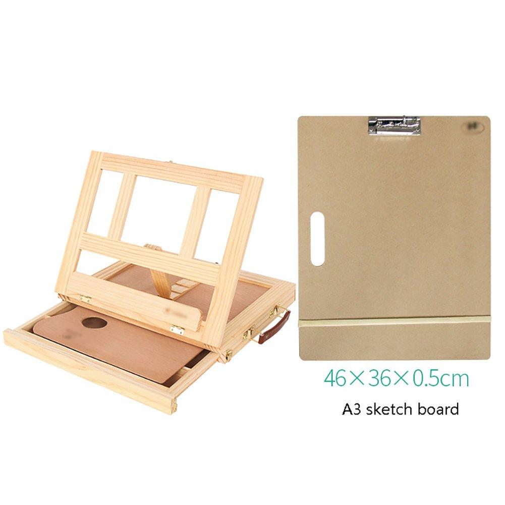水彩アクリルはブナの引き出しのタイプを設定します。イーゼルは、A3 wood+A3 8Kのスケッチボードを使用して油絵のフレームイーゼルを描画ボックスで木製のイーゼルをデスクトップ sketch (色 : Pine Pine wood+A3 sketch board) Pine wood+A3 sketch board B07FBSB5DS, 美浜町:4746cbcb --- ijpba.info