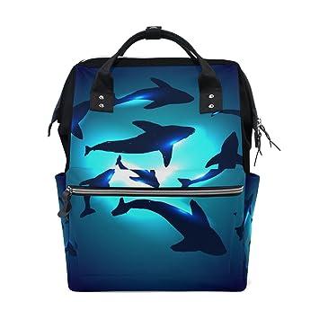 Amazon.com: mapolo Submarino Tiburones bolsa de pañales ...