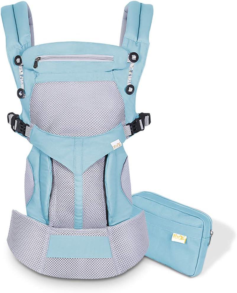 3-48 meses SONARIN Mochila portabeb/é Transpirable Premium,Ergon/ómica,capucha de dormir,para reci/én nacidos y beb/és ,carga m/áxima 20 kg,Soporte para la Cabeza,Marsupio portabeb/é Azul