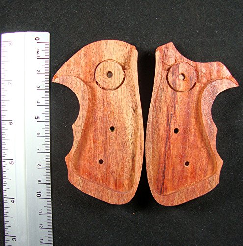 RUAYMAK HANDIWORKGRIPS ROSEWOOD GRIPS SMITH&WESSON REVOLVERS J FRAME, BOTH SQUARE/ROUND BUTT HANDMADE SILVER MEDALLIONS FINGER GROOVE SPORT OUTDOOR SWJ-47