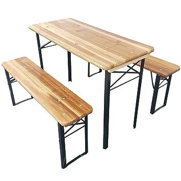 Set X3 Table De Brasserie De Proheim 1 Table 2 Bancs Ensemble